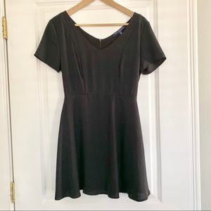 One Clothing Short Sleeve Skater Dress Black Small